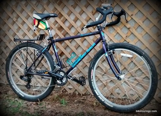 Picture of mountain bike for touring with Gary 2 dirt drop bars