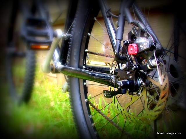 Picture of disc brake on commuter bike