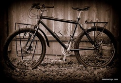 Picture of mountain bike as touring bike