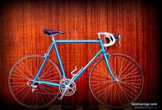 Picture of Razesa road bike, steel lugged frame, Campagnolo component
