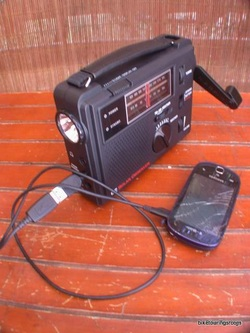 Picture of C Crane travel radio for bike touring