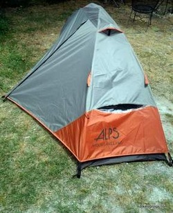 Picture of one person tent for bike touring