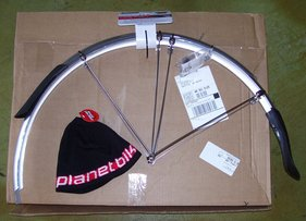 Picture of planet bike fenders for bicycle touring and bicycle commuting