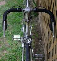 Picture of vintage Motobecane with front generator light.