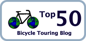 Picture of Top Fifty Bicycle Touring Blog logo at Adventure Junkie's site