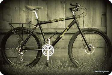 Picture of custom built commuter bike for off road use.