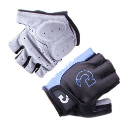 Picture of padded, ventilated cycling gloves