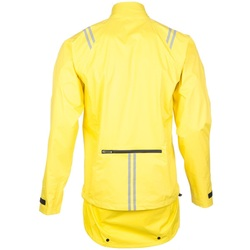 Picture of Bell Storm Front Jacket showing rear zipper pocket and rain flap for bike commuting