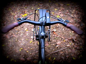 Picture of mountain bike handle bar for touring and commuting