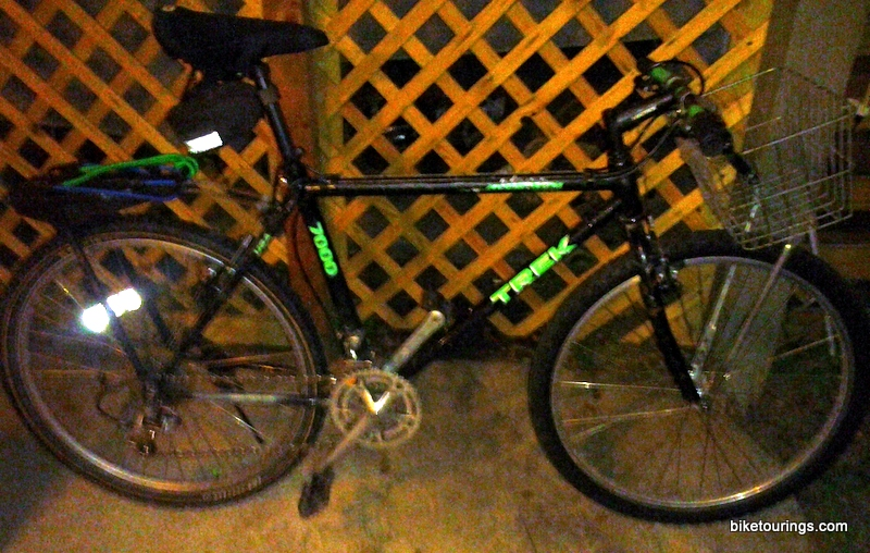 Pictureof Trek bike for bike commuting with handle bar basket