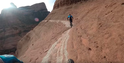Picture of mountain bikers riding The White Line Trail at Sedona, AZ