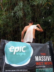 Picture of epic wips massive towel wipe for bikepacking, bicycle touring and camping