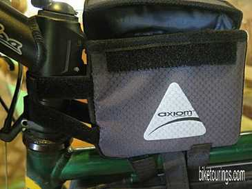 Picture of Axiom Smart Box velcro lid cover for bike touring or commuting