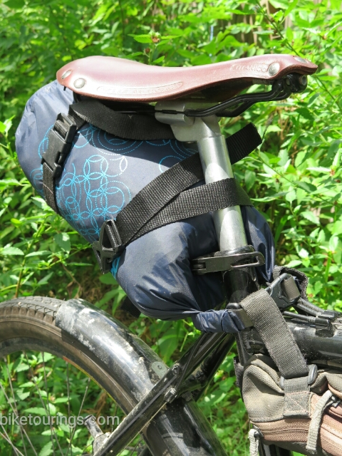 Picture of Seat Pack Bag for Bike Packing using Roll Top Dry Bag